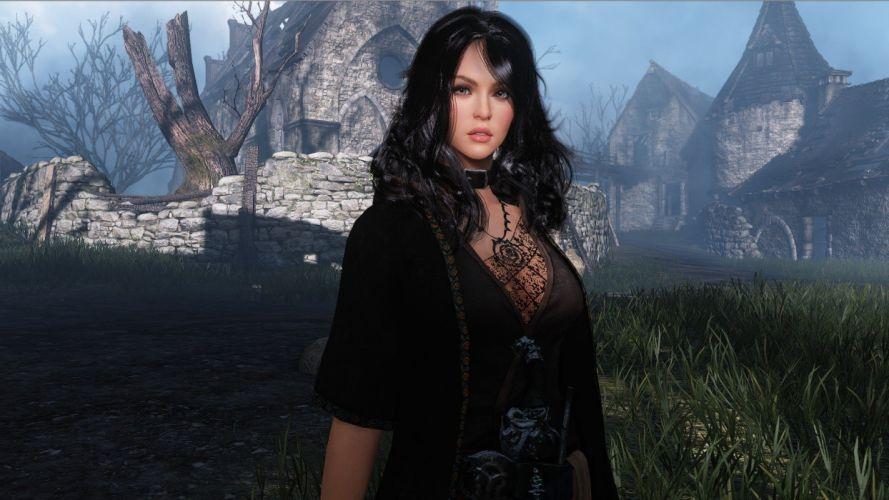 brunettes women mage video games RPG screenshots fantasy art wizards MMO MMORPG role playing game Black Desert Online wallpaper