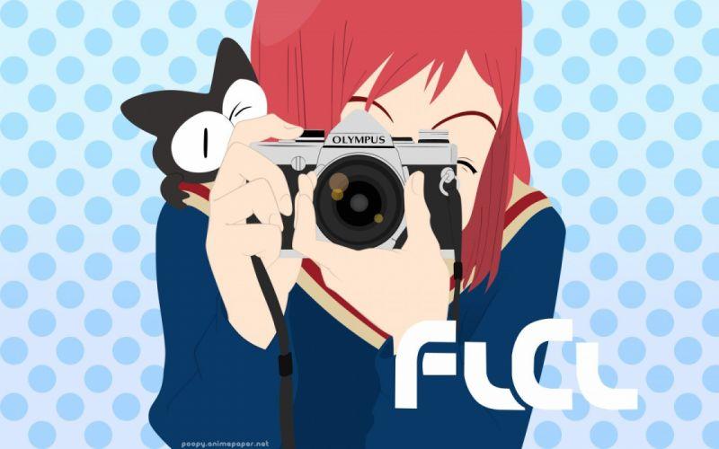 redheads FLCL Fooly Cooly school uniforms cameras sailor uniforms Samejima Mamimi wallpaper