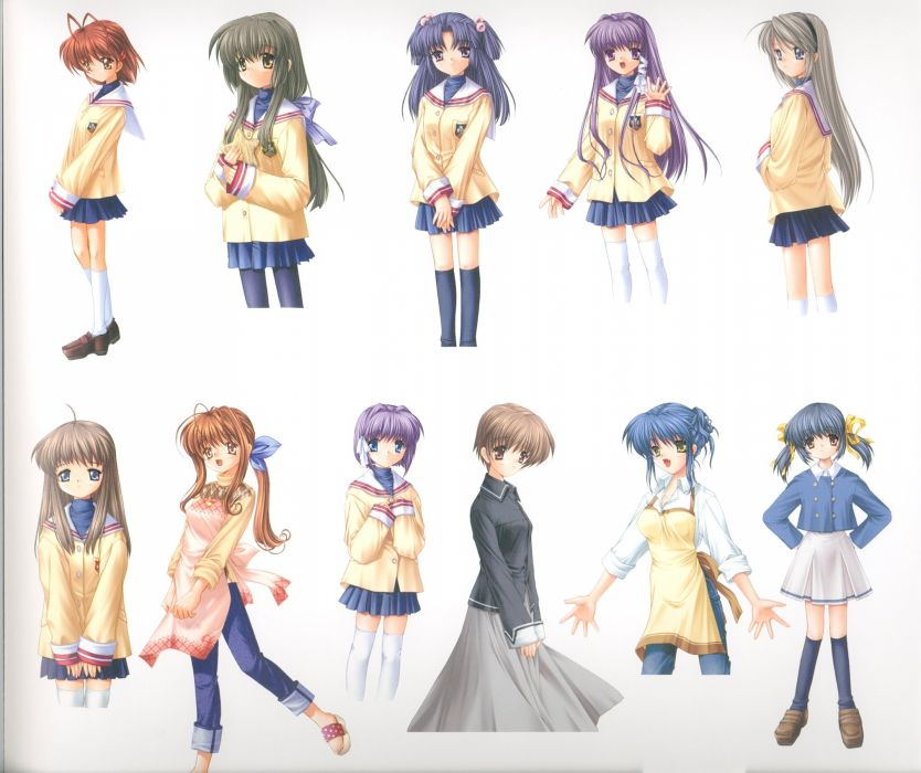 Ichinose Kotomi Clannad wallpaper