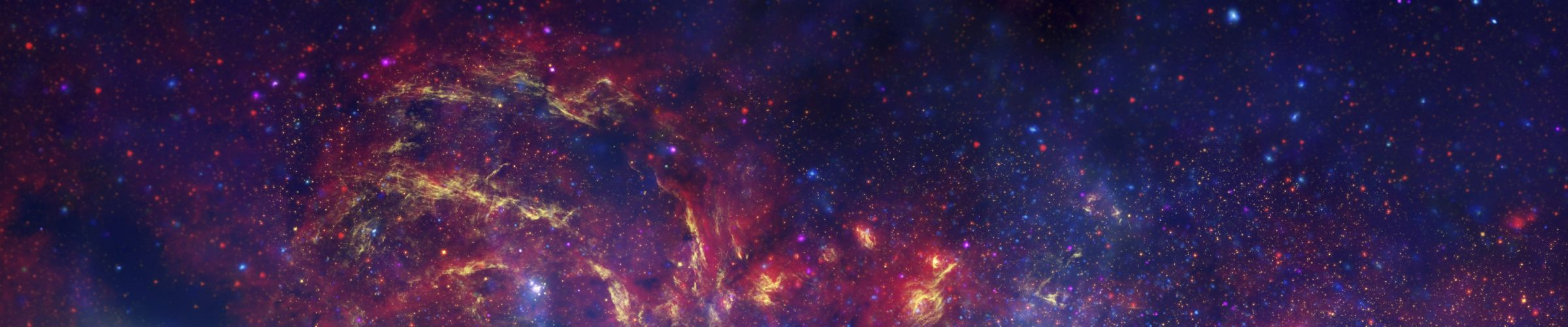 outer space nebulae panoramic wallpaper