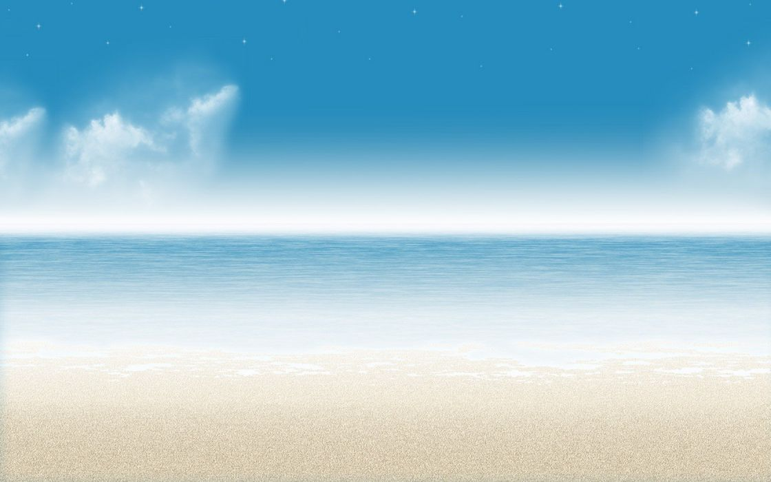 blue ocean clouds nature minimalistic stars outdoors serene skyscapes sea beaches wallpaper