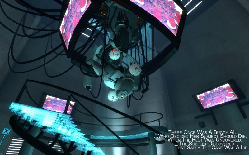 Valve Corporation Portal boss GLaDOS cakes wallpaper