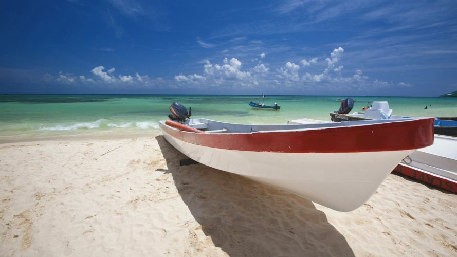 Mexico boats vehicles beaches wallpaper