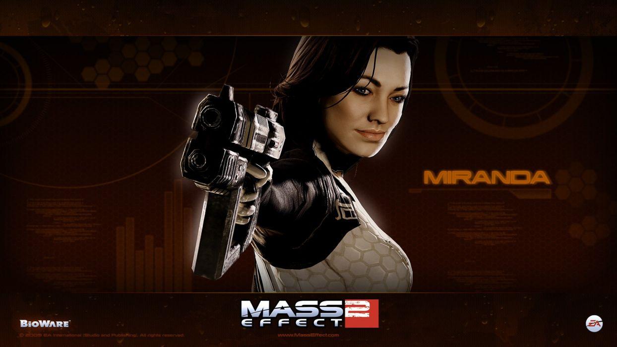 video games uniforms Mass Effect Miranda Lawson BioWare Mass Effect 2 wallpaper