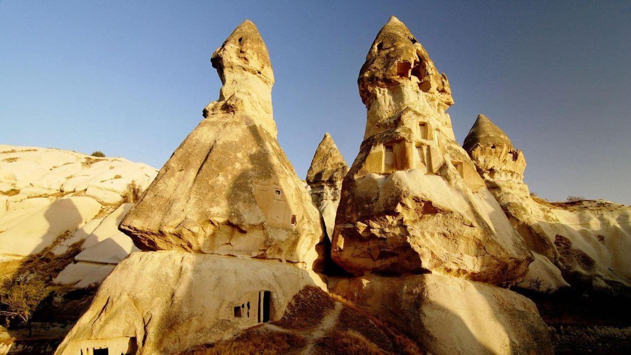 rocks Turkey Cappadocia wallpaper