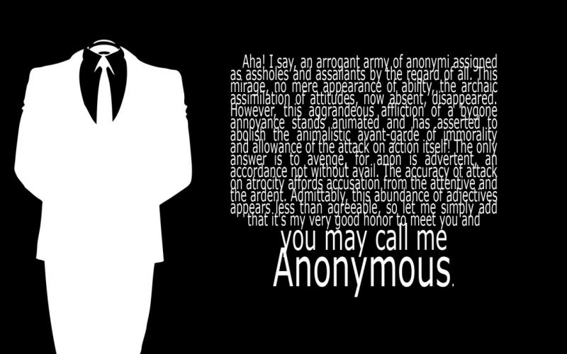 black and white Anonymous text suit wallpaper