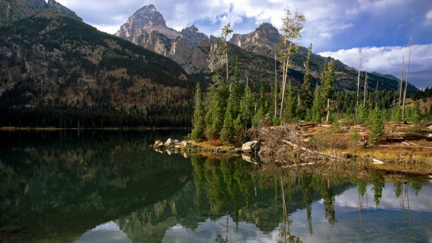 Wyoming reflections wallpaper