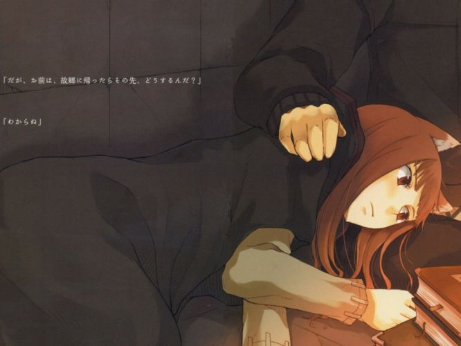 Spice and Wolf animal ears anime Holo The Wise Wolf wolves wallpaper