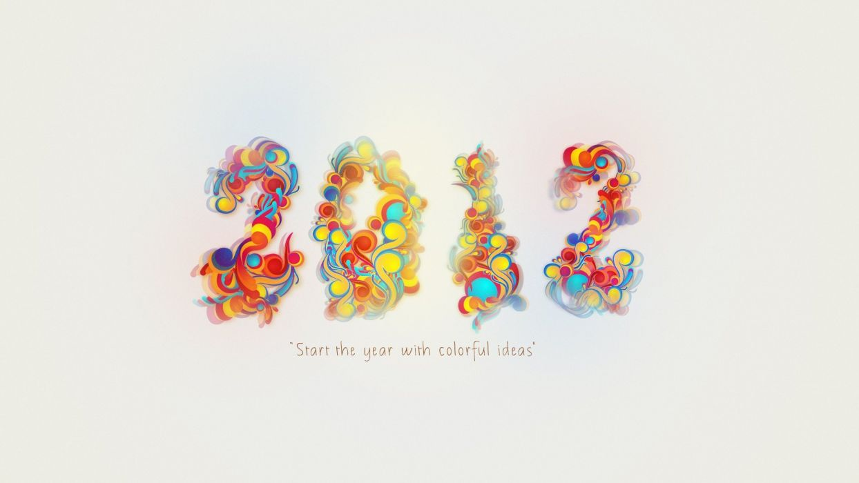 multicolor New Year wallpaper