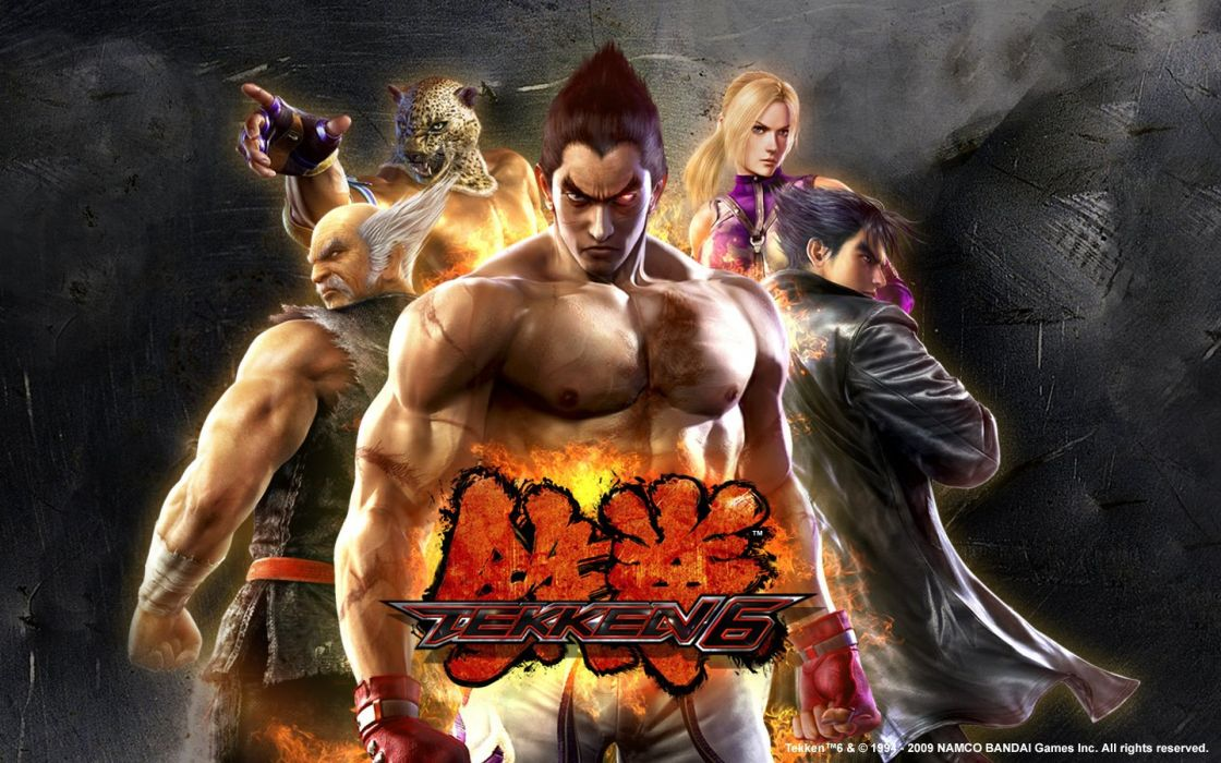 King Tekken 6 Kazuya Mishima Nina Williams Wallpaper