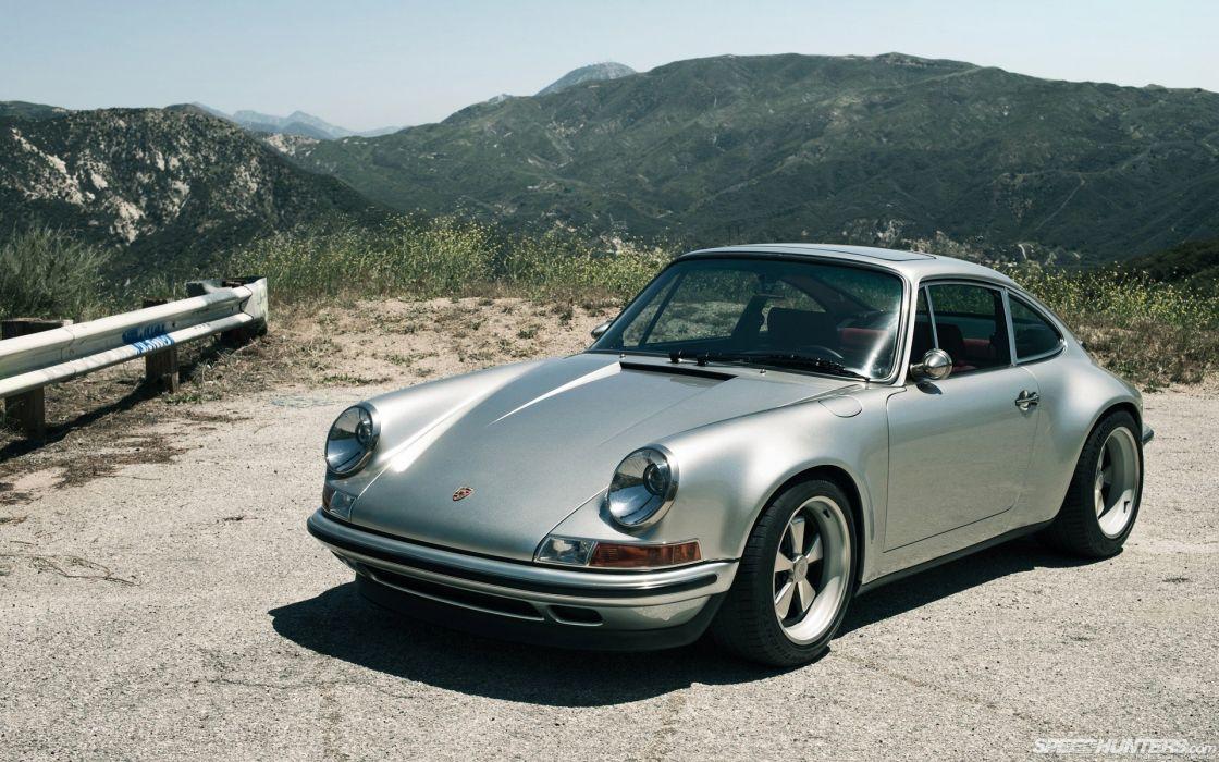 Porsche cars skyscapes Porsche 911 SpeedHunters_com Singer 911 wallpaper