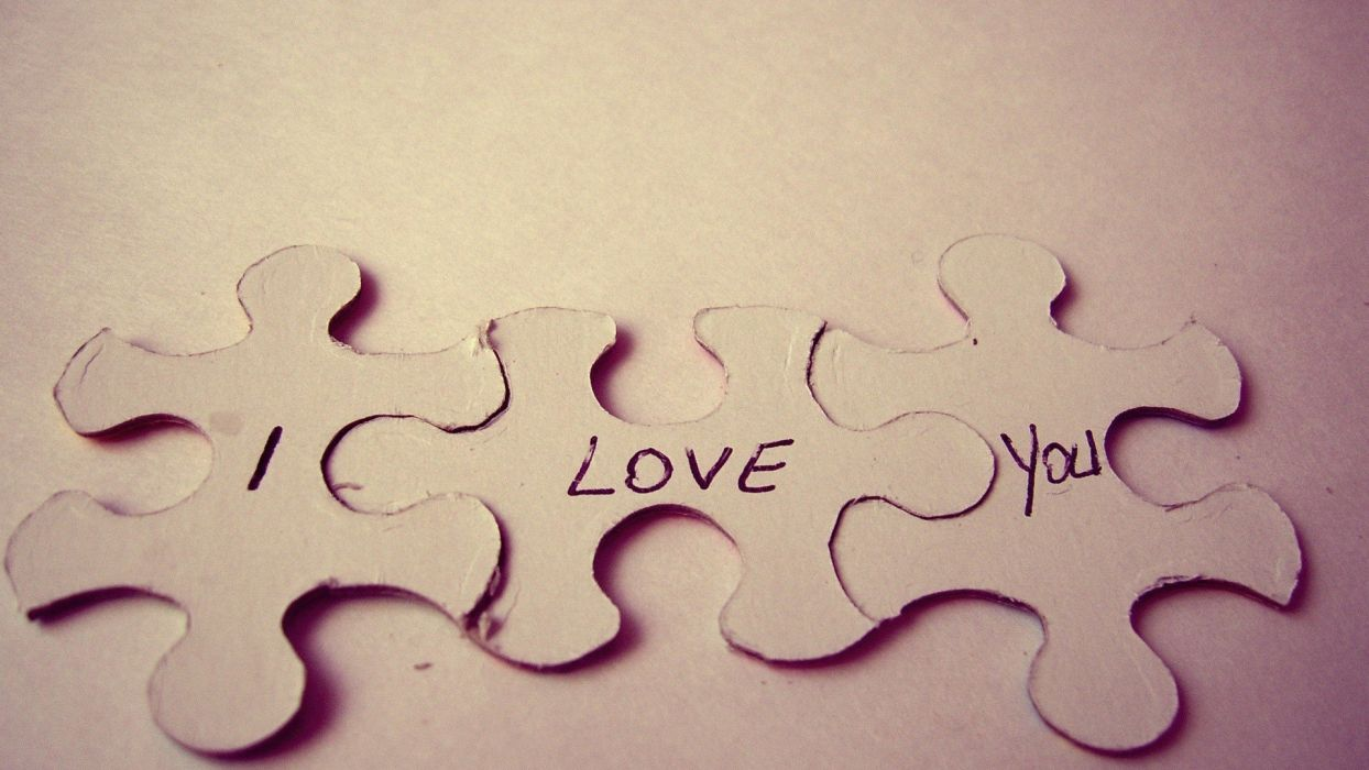 love text saying puzzles i love you wallpaper