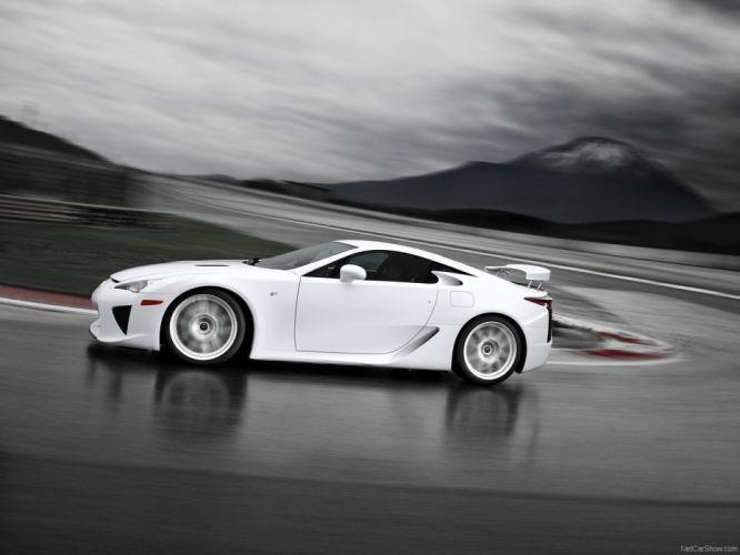 Lexus LFA white cars wallpaper