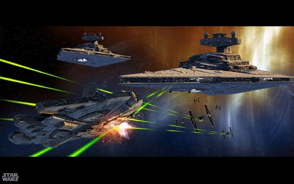 Star Wars Millennium Falcon Destroyer Wallpaper