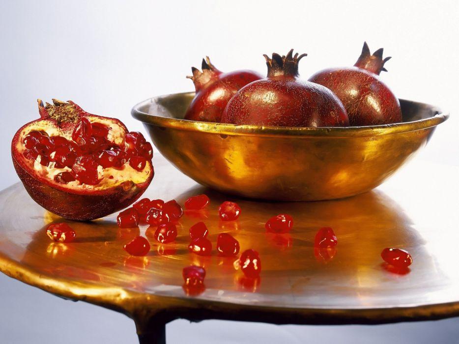 fruits pomegranate strong Fresh vitamins wallpaper