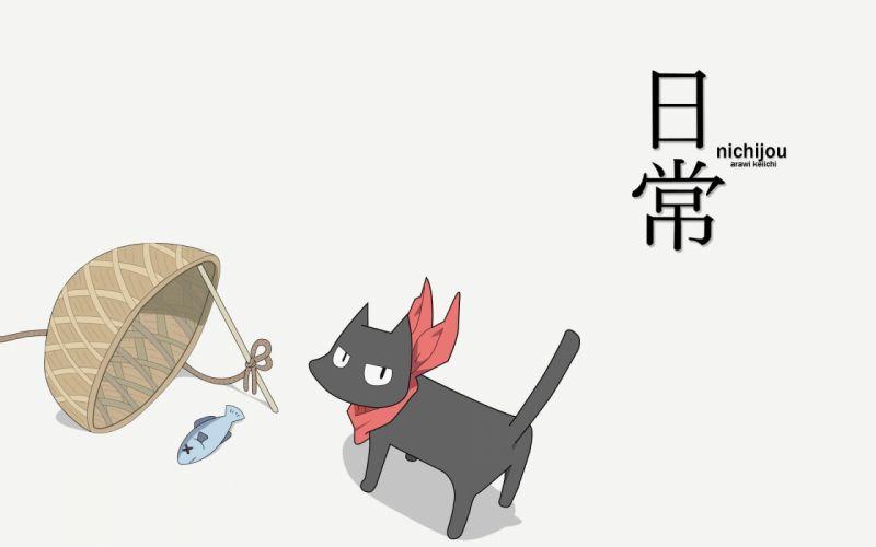 Nichijou Sakamoto simple background wallpaper
