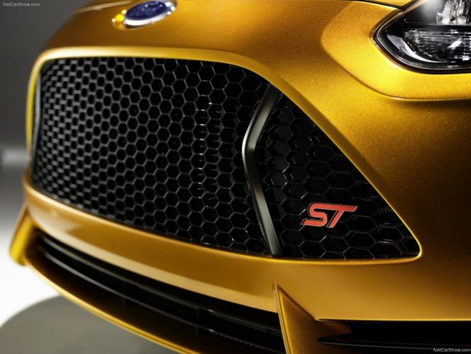 cars gold Ford Focus Ford Focus ST wallpaper
