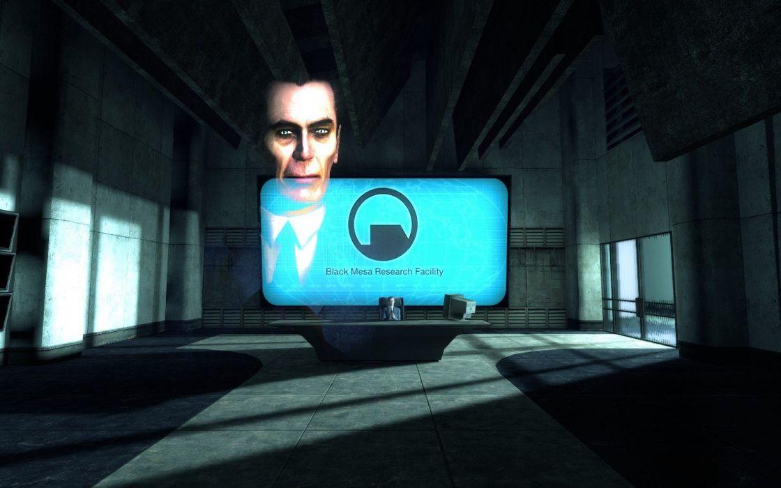 video games Valve Corporation Half-Life Gman Black Mesa wallpaper