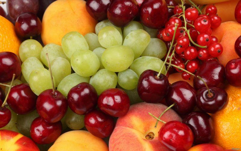 fruits kitchen berries wallpaper