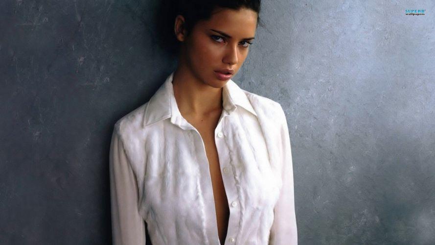 brunettes women Adriana Lima actress celebrity wallpaper