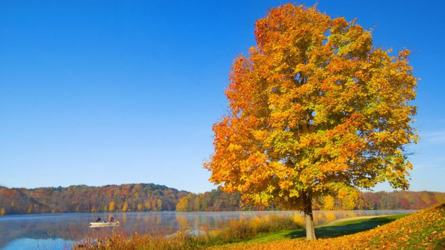 Serenity autumn hills Ohio wallpaper