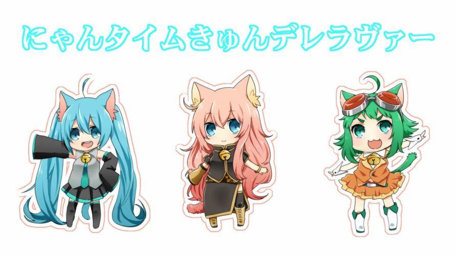 Vocaloid Hatsune Miku Megurine Luka nekomimi Megpoid Gumi anime girls wallpaper