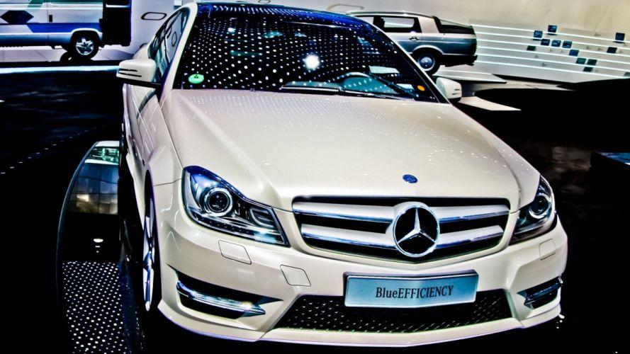 lights cars vehicles white cars Mercedes-Benz wallpaper