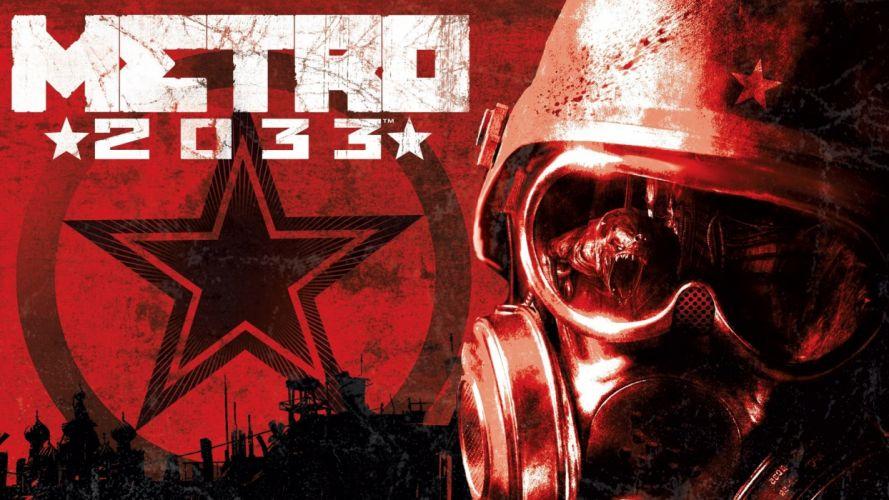 gas masks Metro 2033 wallpaper