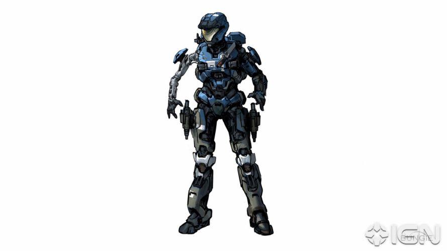video games futuristic Halo armor Halo Reach artwork wallpaper
