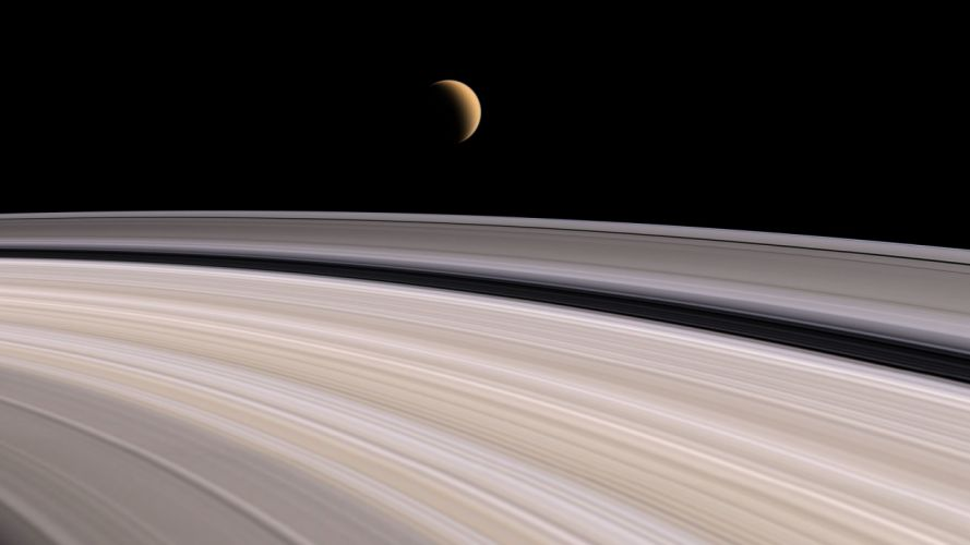 Solar System planets rings Saturn wallpaper
