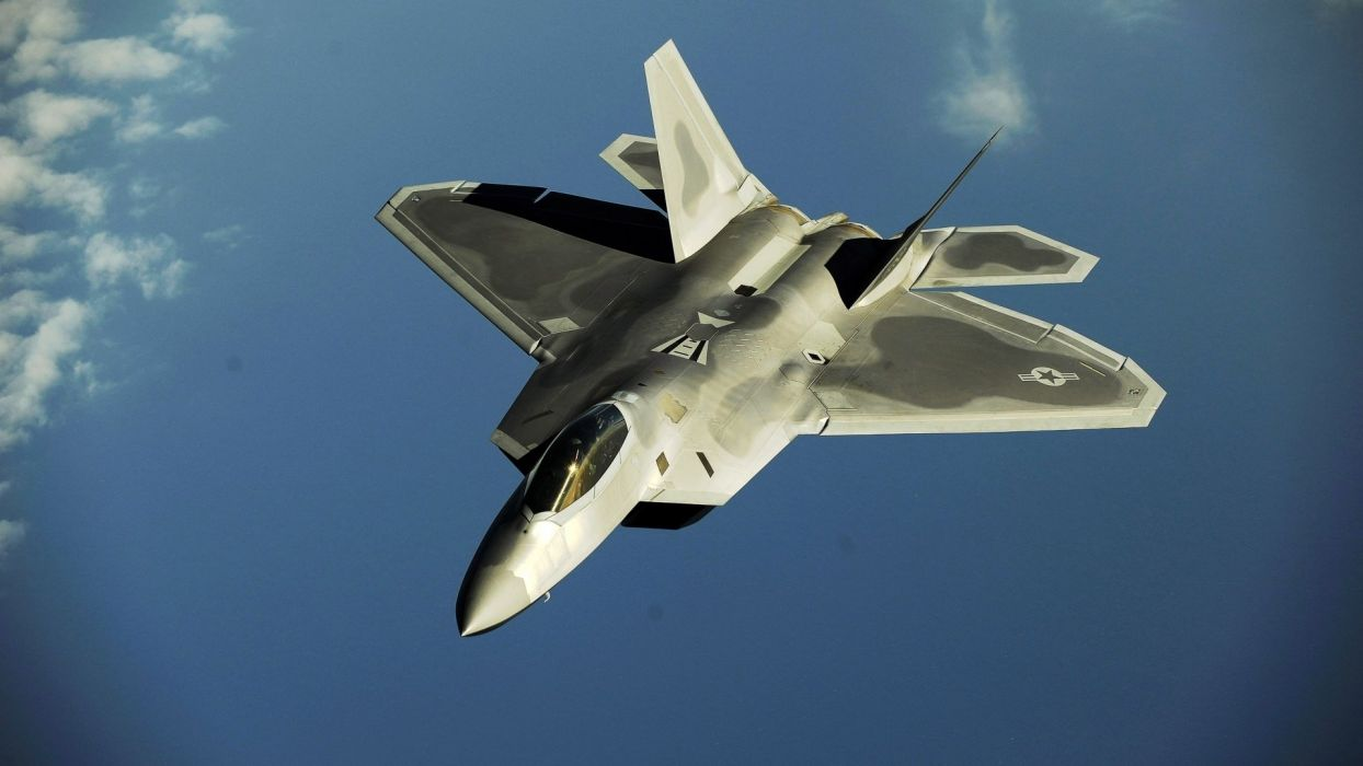 aircraft military F-22 Raptor wallpaper