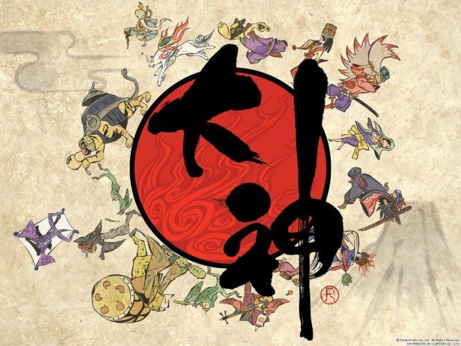 Nintendo Okami Nintendo Wii Asians zodiac wallpaper