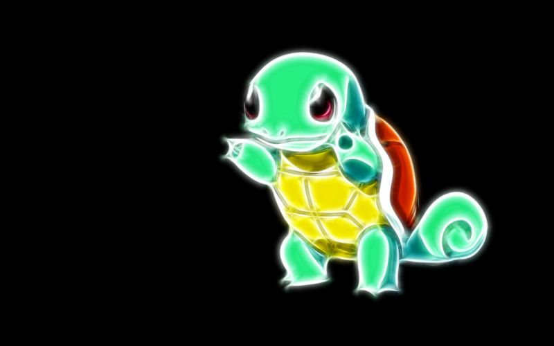 Pokemon Squirtle simple background black background wallpaper