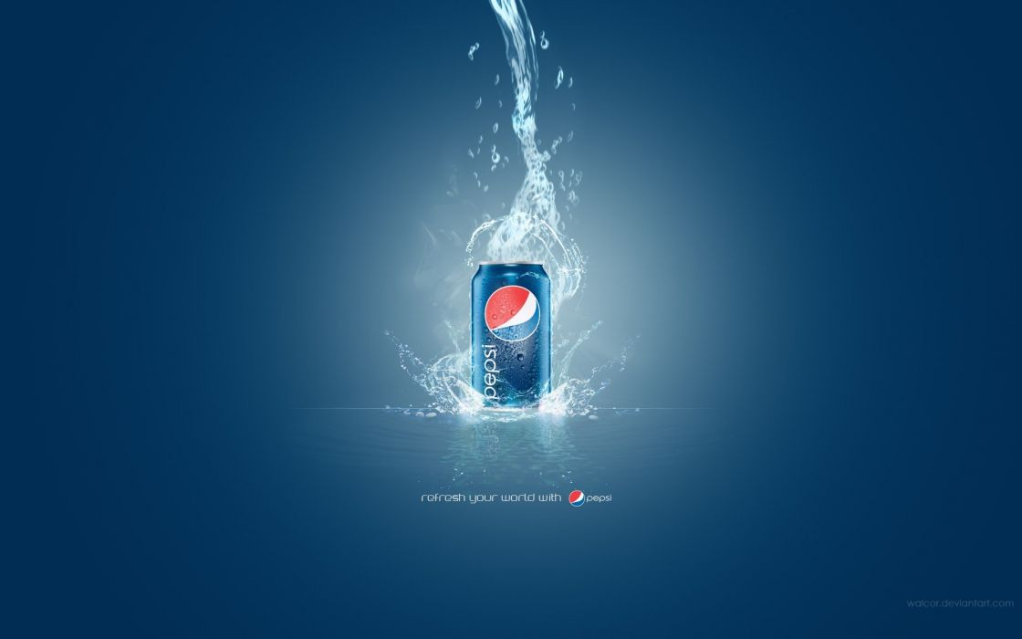 blue Pepsi soda cans wallpaper