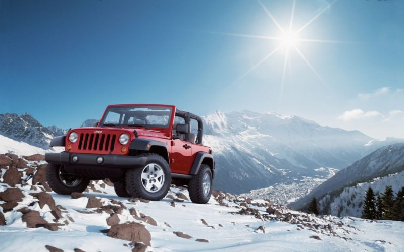 mountains Jeep Rubicon wallpaper