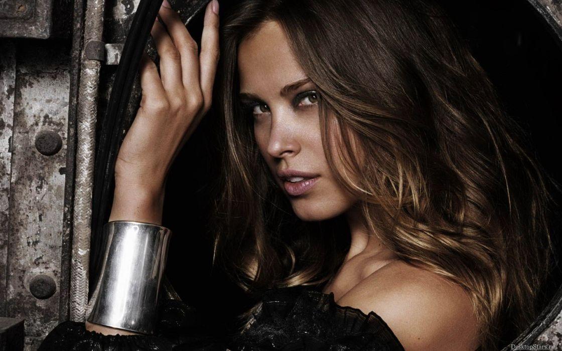 brunettes women models Petra Nemcova faces wallpaper