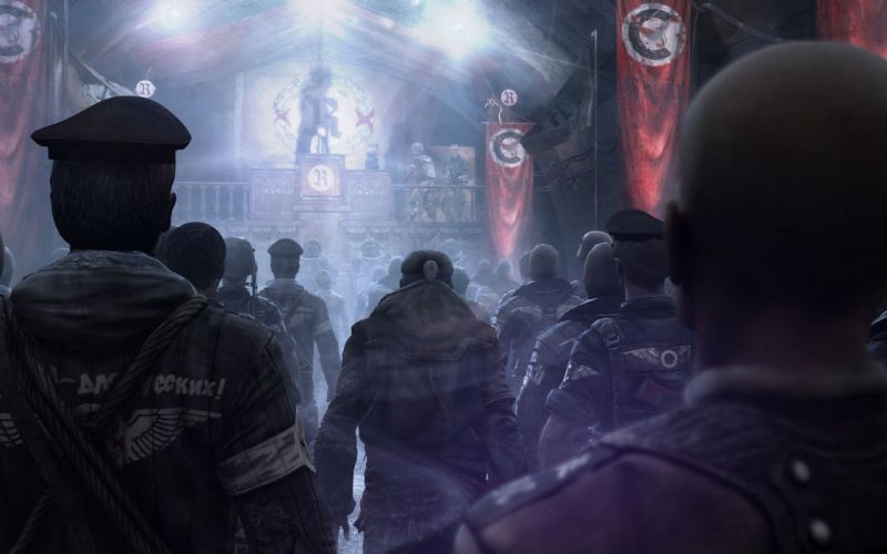video games Nazi artwork Metro 2034 post apocalyptic Metro last light speech wallpaper