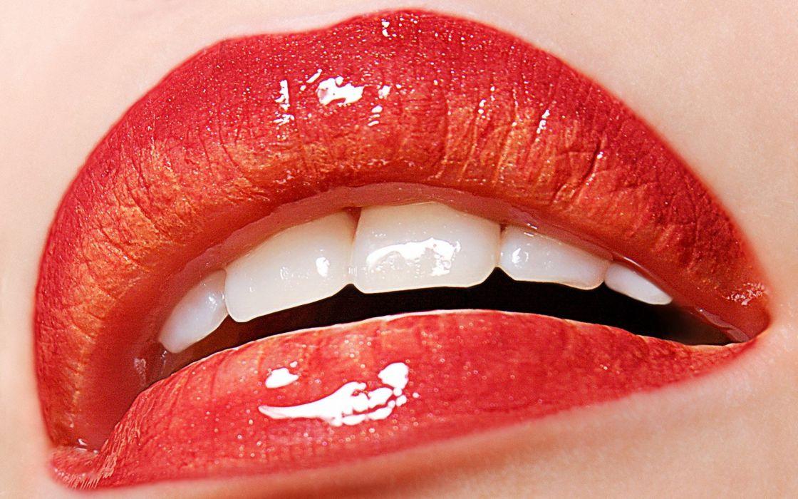 women lips mouth make up lipstick wallpaper