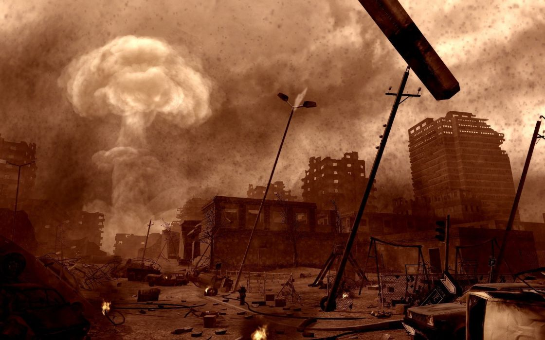 Call of Duty apocalypse nuclear explosions Call Of Duty 4: Modern Warfare atomic bomb wallpaper