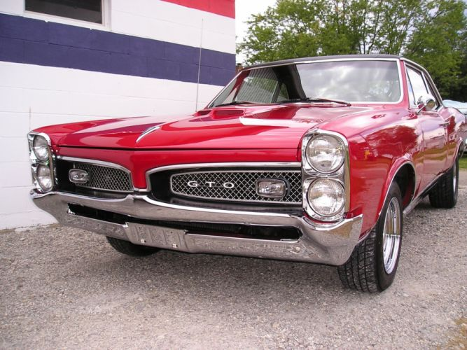 cars vehicles red cars Pontiac GTO wallpaper