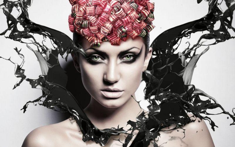 women design models splashes portraits wallpaper