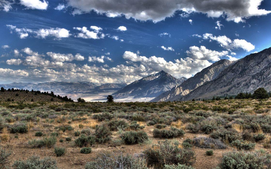 mountains clouds landscapes nature deserts plants wallpaper