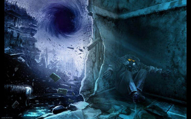 nightmare black hole Romantically Apocalyptic Vitaly S Alexius Engie engineer wallpaper