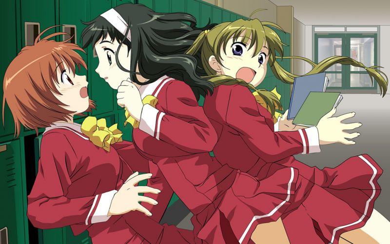 school uniforms Kashimashi: Girl Meets Girl wallpaper