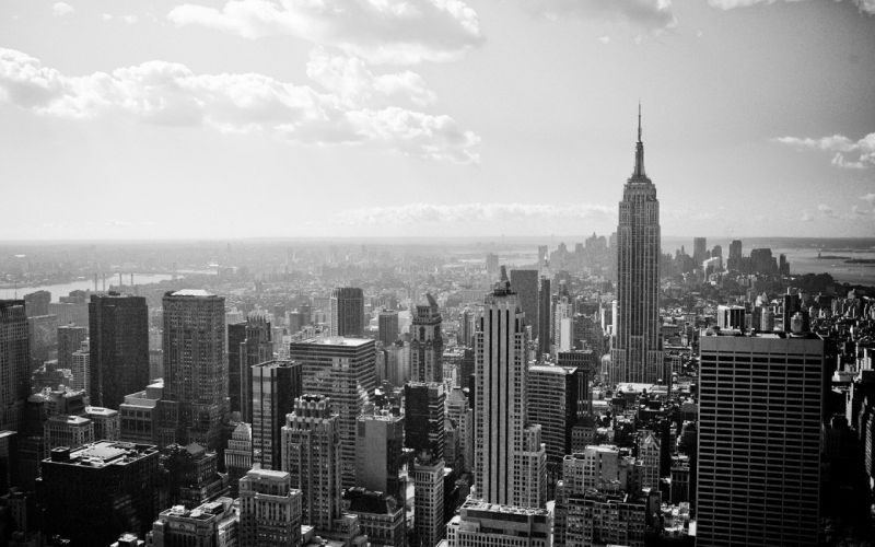 cityscapes New York City monochrome wallpaper