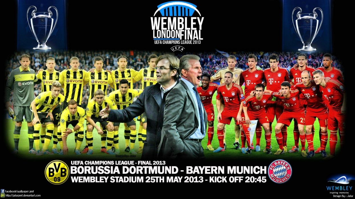 sports soccer Champions League Uefa Champions League borussia dortmund UEFA bayern munich Bayern Munchen Champions League Final wallpaper