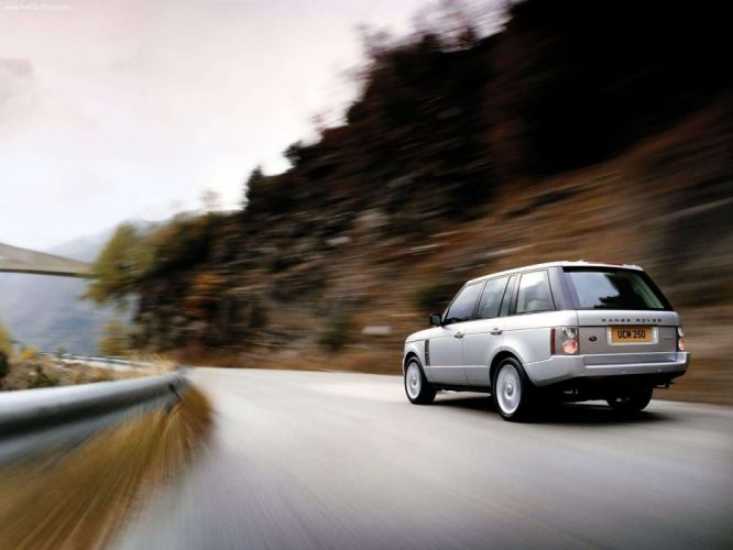 white cars Land Rover Range Rover supercharged wallpaper