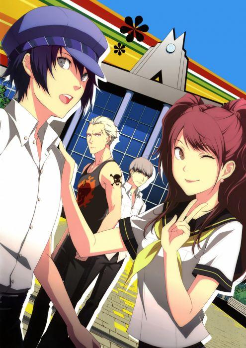 video games Persona 4 Narukami Yuu scans Shirogane Naoto Kujikawa Rise Tatsumi Kanji wallpaper