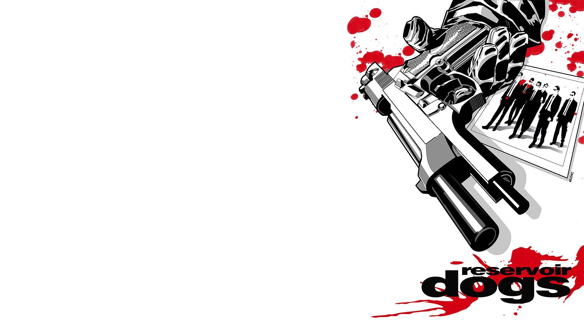 Reservoir Dogs Quentin Tarantino fan art white background wallpaper