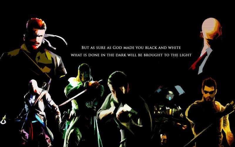 Hitman Halo Assassin's Creed Deus Ex Human Revolution Dishonored Metal gear wallpaper